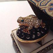 """Винтажные кольца ручной работы. Ярмарка Мастеров - ручная работа Перстень """"Лягушка к богатству"""",огромный,ВИНТАЖ. Handmade."""