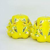 Сувениры и подарки ручной работы. Ярмарка Мастеров - ручная работа Свечи - малютки, желтый золотой зеленый, Солнечные зайчики. Handmade.