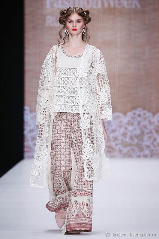 Coat ETHNO Vyatka Vologda lace, Coats, Kirov,  Фото №1