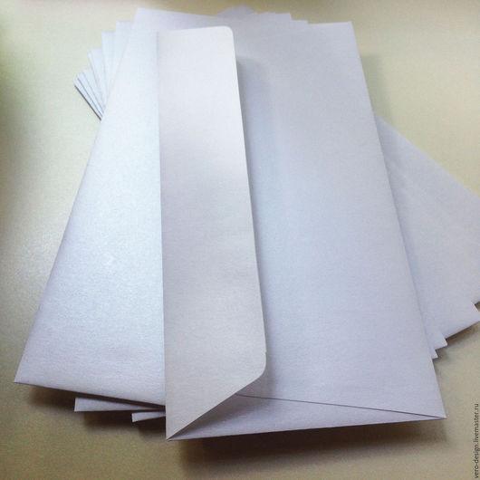 Упаковка ручной работы. Ярмарка Мастеров - ручная работа. Купить Конверт перламутровый , 22 Х 11 см, цвет белый жемчуг.. Handmade.