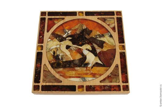 """Животные ручной работы. Ярмарка Мастеров - ручная работа. Купить Мозаика из натурального янтаря """"Косатка"""". Handmade. Комбинированный, мозаика из янтаря"""