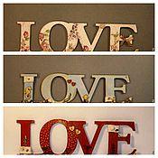 Свадебный салон ручной работы. Ярмарка Мастеров - ручная работа Слова для , фотосессий, интерьера. Love на море. Handmade.