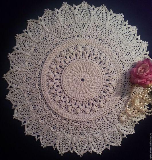 Текстиль, ковры ручной работы. Ярмарка Мастеров - ручная работа. Купить Салфетка крючком  №8. Handmade. Хлопок 100%