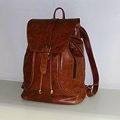 Сумки и аксессуары handmade. Livemaster - original item Backpack leather 14. Handmade.