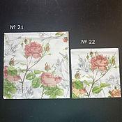 "Салфетки для декупажа ручной работы. Ярмарка Мастеров - ручная работа Салфетки ""розы"" 2 размера. Handmade."