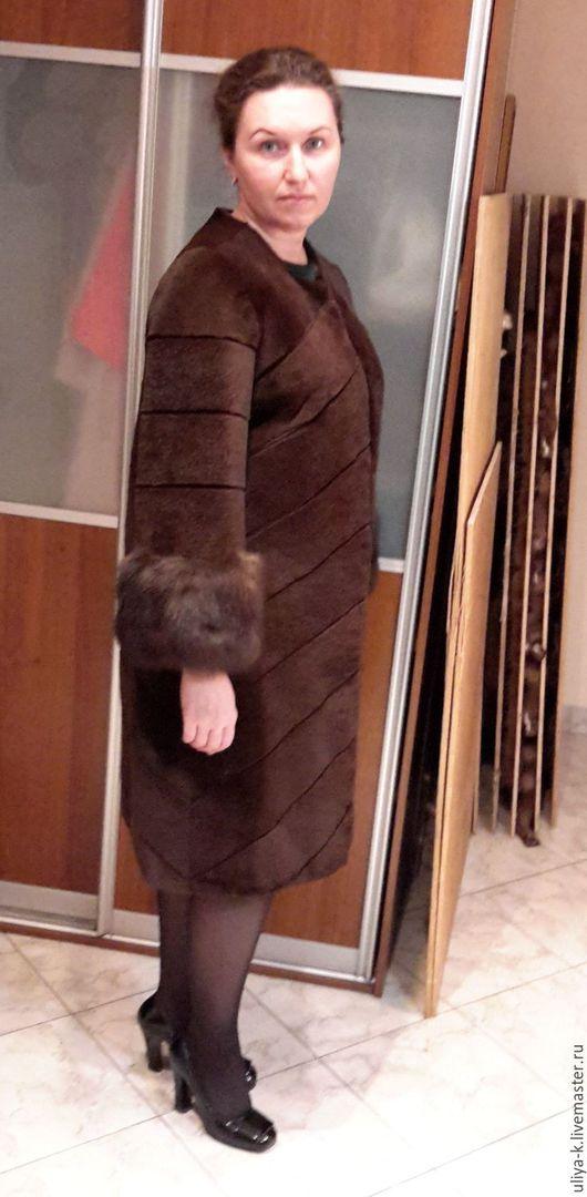 Верхняя одежда ручной работы. Ярмарка Мастеров - ручная работа. Купить пальто с соболем. Handmade. Мех, соболь, шуба из меха