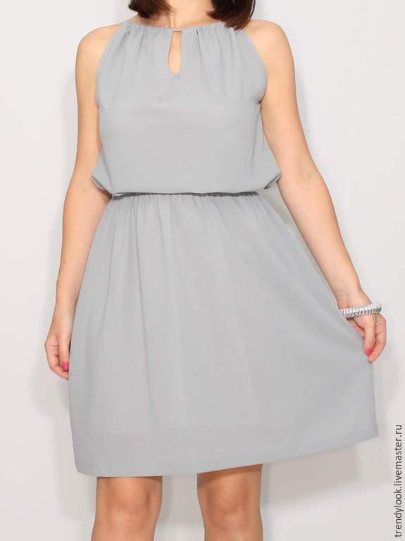 a17ee4bb990 Анна Платья ручной работы. Заказать Светло-серое платье из шифона