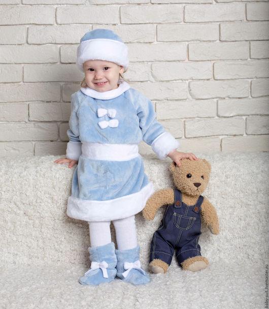Карнавальный новогодний костюм Снегурочки для малышей и детей