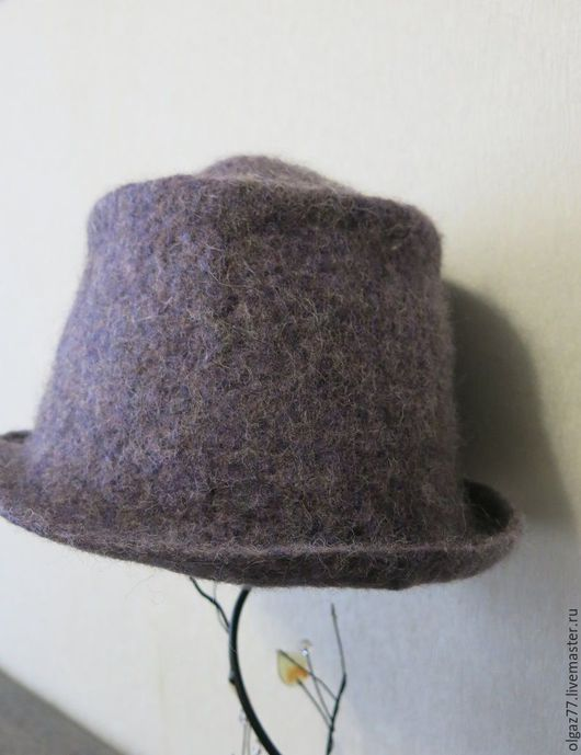 """Шляпы ручной работы. Ярмарка Мастеров - ручная работа. Купить Шляпа валяная """"Серый - не значит скучный"""" (продана). Handmade."""