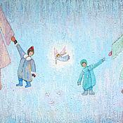 """Картины и панно ручной работы. Ярмарка Мастеров - ручная работа Картина маслом """"Встреча"""". Handmade."""