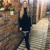 Одежда ручной работы. Ярмарка Мастеров - ручная работа Платье-водолазка, с имитацией платья-комбинации. Handmade.