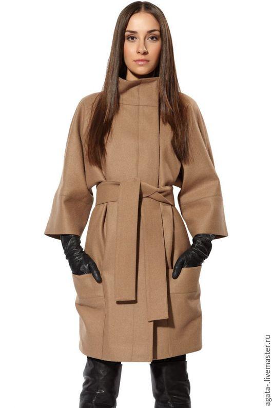 Верхняя одежда ручной работы. Ярмарка Мастеров - ручная работа. Купить пальто демисезонное (бежевое). Handmade. Бежевый, однотонный