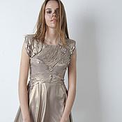Одежда ручной работы. Ярмарка Мастеров - ручная работа Платье золотое. Handmade.