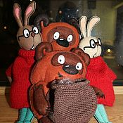 Для дома и интерьера ручной работы. Ярмарка Мастеров - ручная работа Пакетницы Кролик или Винни Пух. Handmade.
