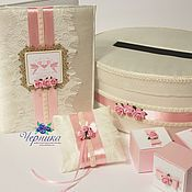 Свадебный салон ручной работы. Ярмарка Мастеров - ручная работа Свадебный комплект в молочно-розовом цвете. Handmade.