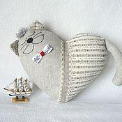 Куклы и игрушки ручной работы. Ярмарка Мастеров - ручная работа Кот-сердце Музыка белых ночей. Handmade.