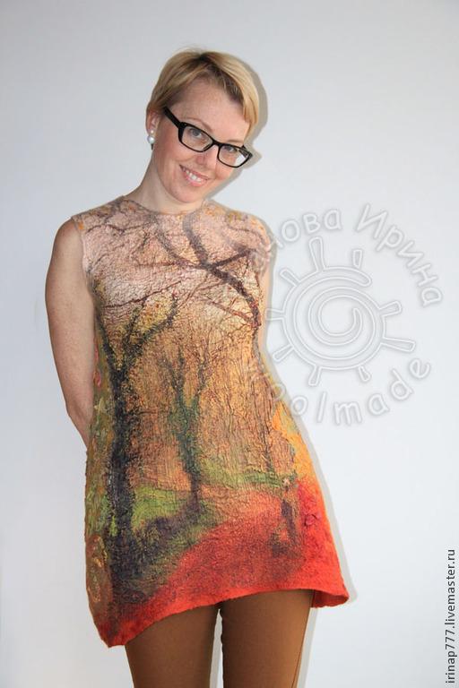 """Кофты и свитера ручной работы. Ярмарка Мастеров - ручная работа. Купить туника """"Туман"""". Handmade. Разноцветный, осенний, одежда для женщин"""