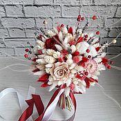 Свадебные букеты ручной работы. Ярмарка Мастеров - ручная работа Свадебный букет цвета марсала из сухоцветов со стабилизированной розой. Handmade.