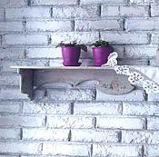 Для дома и интерьера ручной работы. Ярмарка Мастеров - ручная работа Полка настенная,прованс,декупаж.. Handmade.