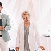 Одежда ручной работы. Ярмарка Мастеров - ручная работа Женский жакет из светлой костюмной ткани.. Handmade.