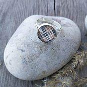 Украшения handmade. Livemaster - original item Ring silvered Cage beige. Handmade.