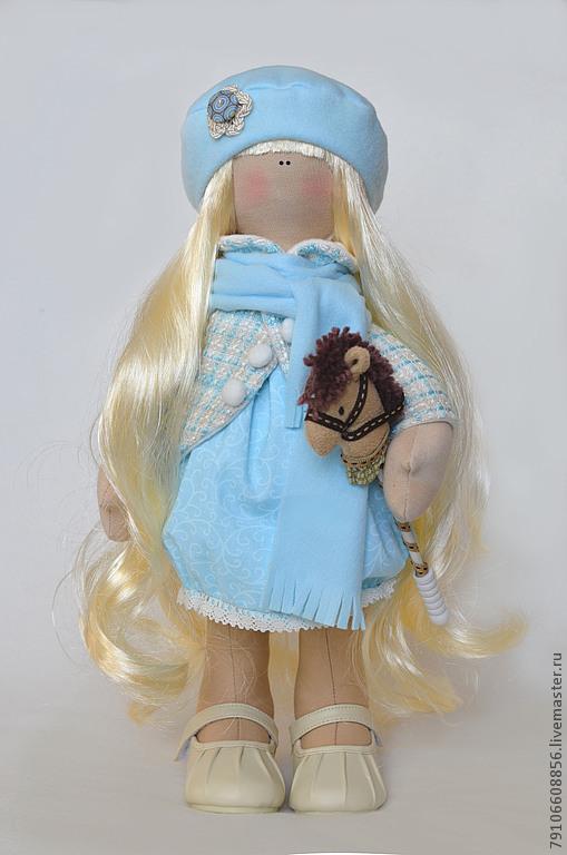 Коллекционные куклы ручной работы. Ярмарка Мастеров - ручная работа. Купить Ангелина с лошадкой. Handmade. Коллекционная кукла, трикотаж