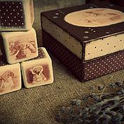 Куклы и игрушки ручной работы. Ярмарка Мастеров - ручная работа Кубики в шкатулке 9 шт . С изображением вашей коллекции мишек  тедди. Handmade.