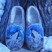 Обувь ручной работы. Ярмарка Мастеров - ручная работа Войлочные тапочки Ночной волк. Handmade.