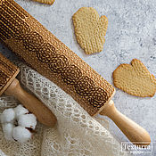 Посуда handmade. Livemaster - original item KNITTING with CABELS - embossing rolling pin by Texturra. Handmade.