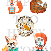 Материалы для творчества handmade. Livemaster - original item Termotransfer. Fox. Termoprint. Pictures for fabric. Decal.. Handmade.