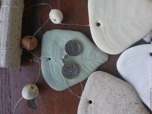 Для украшений ручной работы. Ярмарка Мастеров - ручная работа. Купить Подвеска лотос мал (серебро)- КВ419. Handmade. Серебряный