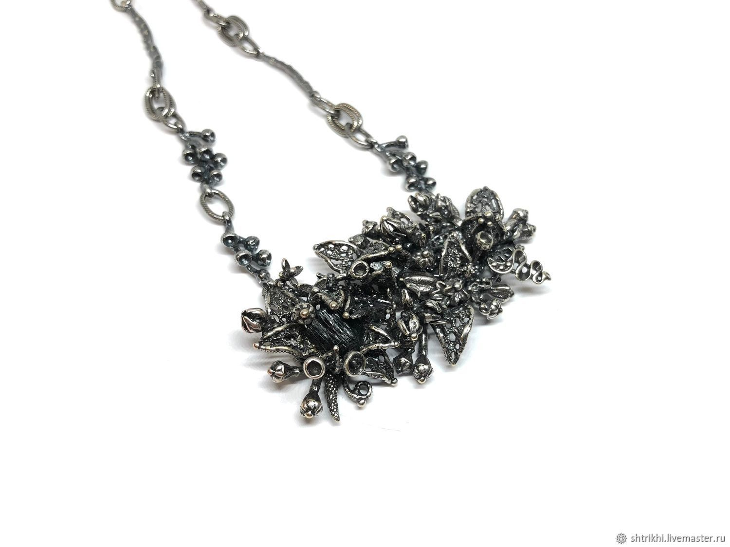 Petal Necklace.The author's work with the fittings annabronze, silver, Necklace, Moscow,  Фото №1