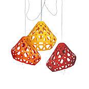 Для дома и интерьера handmade. Livemaster - original item ZAHA trehrozhkovye tricolor LIGHT chandelier 10. Handmade.