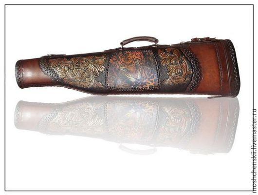 Персональные подарки ручной работы. Ярмарка Мастеров - ручная работа. Купить чехол для охотничьего ружья. Handmade. Коричневый, искусственный мех
