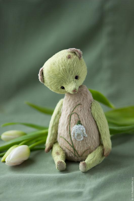 Мишки Тедди ручной работы. Ярмарка Мастеров - ручная работа. Купить Подснежник. Handmade. Салатовый, цветы, нежность, вышивка