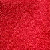 Материалы для творчества ручной работы. Ярмарка Мастеров - ручная работа Лён 100%. Красный. Чистый цвет.. Handmade.