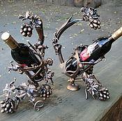 Сувениры и подарки handmade. Livemaster - original item Wrought iron bottle holders 2. Handmade.