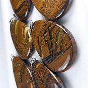 Материалы для творчества handmade. Livemaster - original item Tiger eye with hematite (pendant) Griguatown (Griqualand, Transvaal, South Africa). Handmade.