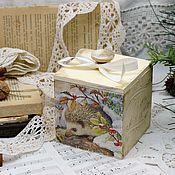 Для дома и интерьера handmade. Livemaster - original item Organizer box box Hedgehog retro style. Handmade.