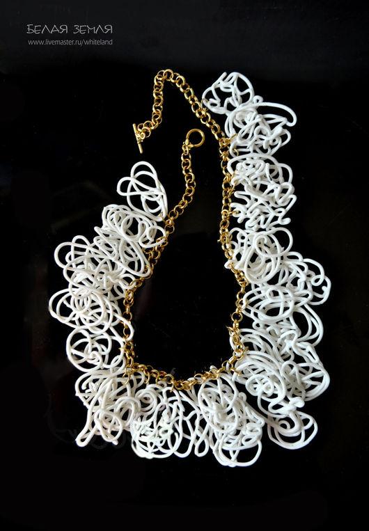 """Колье, бусы ручной работы. Ярмарка Мастеров - ручная работа. Купить Ожерелье из серии """" Фарфоровая нить"""". Handmade."""