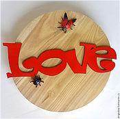 Для дома и интерьера ручной работы. Ярмарка Мастеров - ручная работа Love. Слово из дерева. Красный.. Handmade.