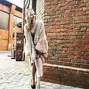 Одежда handmade. Livemaster - original item Golden fluffy cardigan for women at the output (Golden). Handmade.