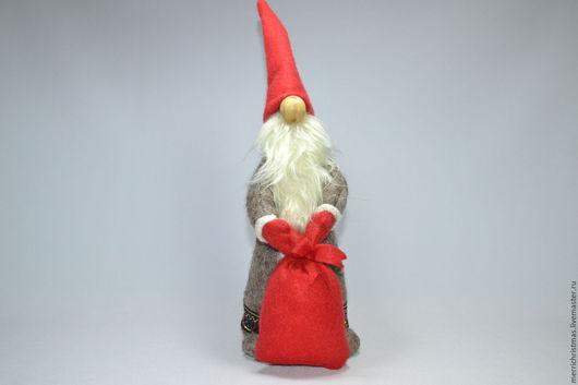 Человечки ручной работы. Ярмарка Мастеров - ручная работа. Купить Интерьерная текстильная игрушка Рождественский гном большой. Handmade. Ярко-красный