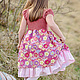 Одежда для девочек, ручной работы. Ярмарка Мастеров - ручная работа. Купить Платье для девочки барышня принцесса розовый сиреневый хлопок. Handmade.