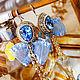 Order Blue earrings with bows aquamarine. bead earrings. LADY-LIZA jewelry shop. Livemaster. . Earrings Фото №3