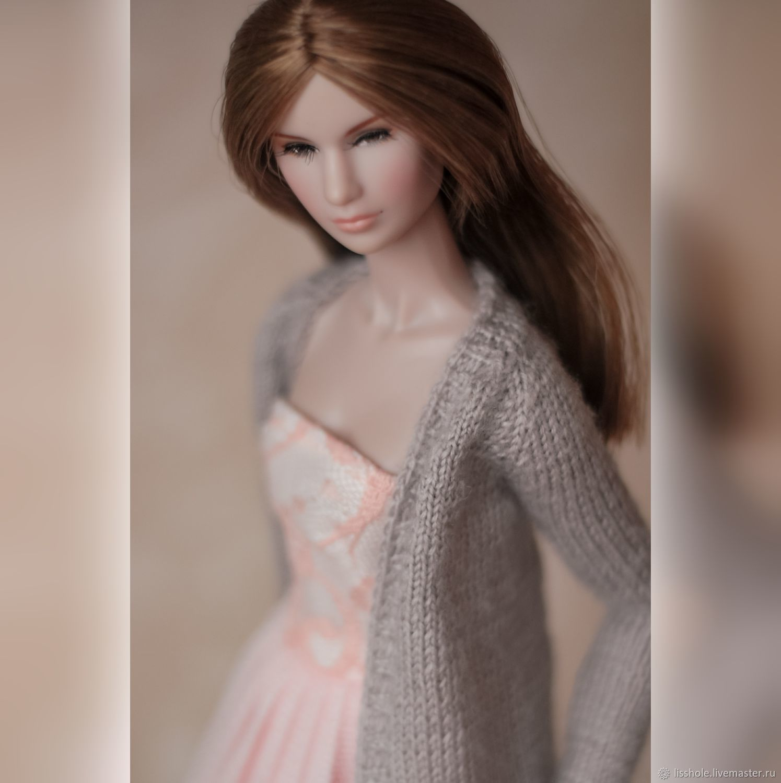 бежевый кардиган на Барби, Одежда для кукол, Рязань,  Фото №1