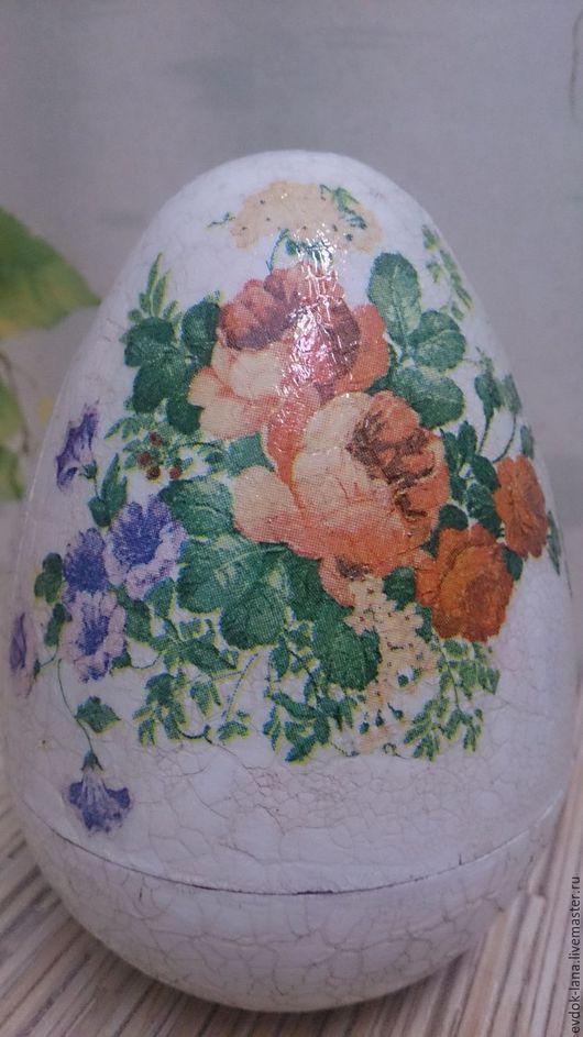 Яйца ручной работы. Ярмарка Мастеров - ручная работа. Купить Яйцо шкатулка. Handmade. Васильковый, пасхальный сувенир