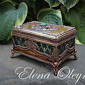 Для дома и интерьера ручной работы. Ярмарка Мастеров - ручная работа шкатулка золотая. Handmade.