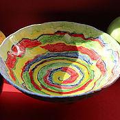 Посуда ручной работы. Ярмарка Мастеров - ручная работа Пиала большая Яркое движение. Handmade.