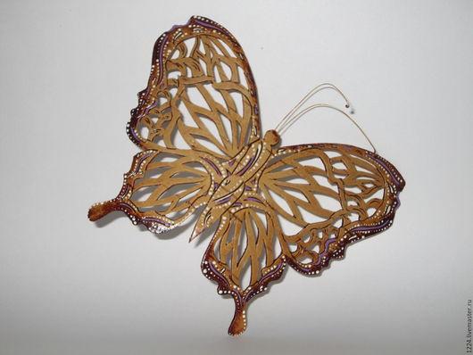 Магниты ручной работы. Ярмарка Мастеров - ручная работа. Купить Бабочка из бересты. Handmade. Сиреневый, бабочка, береста, сувенир из россии